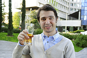 Drinking Beer Stock Images - Image: 19325704