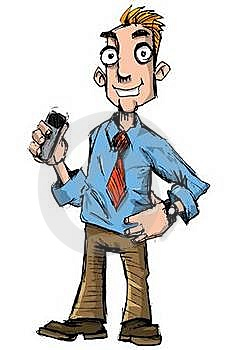 Cartoon Salesman  Stock Photography - Image: 19326622