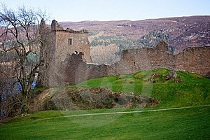 Urqhart Castle Ruins Stock Photography - Image: 19328252