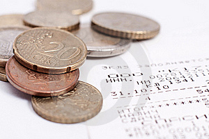 Check And Coins Royalty Free Stock Photo - Image: 19329995