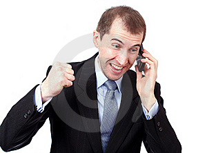 Angry Businessman Royalty Free Stock Photos - Image: 19330018