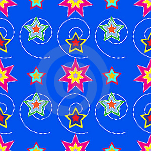 Colorful Stars Pattern Stock Images - Image: 19333524