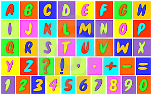Multicolored Alphabet. Stock Images - Image: 19335724