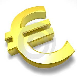 Euro 3D Sign Stock Photo - Image: 19337050