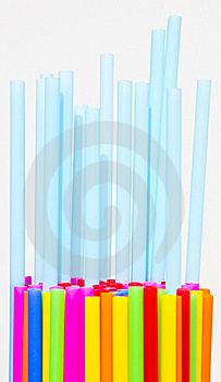 Plastic Tube Variety Of Colors. Stock Photography - Image: 19337422