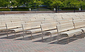 Benches In A Row Stock Photography - Image: 19337632