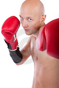 Boxer Is Punching Royalty Free Stock Photos - Image: 19338268