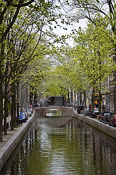 Canal In Amsterdam Stock Photos - Image: 19339323