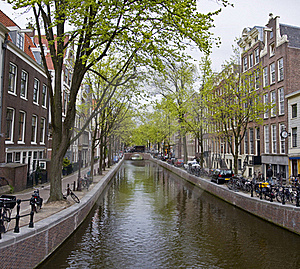 Canal In Amsterdam Royalty Free Stock Photography - Image: 19339387