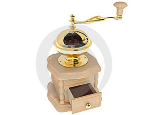 Coffee Grinder Of Light Wood Royalty Free Stock Photography - Image: 19339807