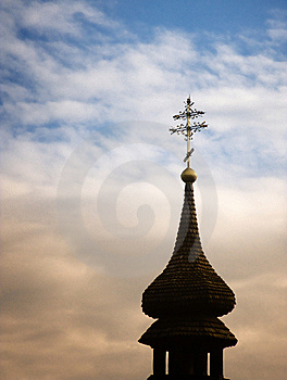 Cross And Church Silhouette Royalty Free Stock Photos - Image: 19340498