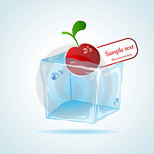 Cherry Ice Cube Royalty Free Stock Photo - Image: 19340745