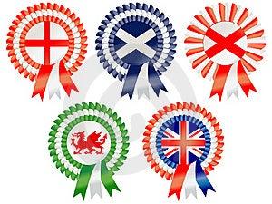 United Kingdom Rosettes Royalty Free Stock Photography - Image: 19341687