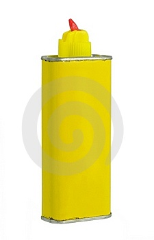 Yellow Aluminum Can With Retractable Nozzle Stock Image - Image: 19341811