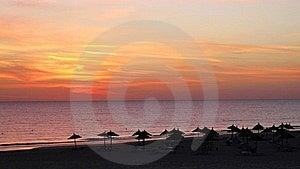 Sunrise On The Beach Royalty Free Stock Image - Image: 19342886