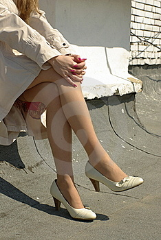 Crossed Female Legs Royalty Free Stock Photo - Image: 19343185