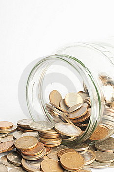 Coin Jar Stock Photo - Image: 19343500