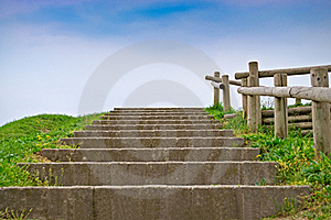 Stairway And Sky Stock Photos - Image: 19343753