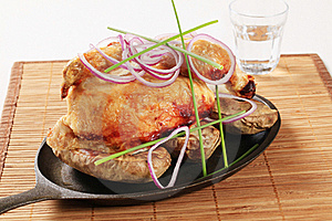 Roast Chicken And Potatoes Royalty Free Stock Images - Image: 19344459