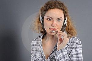 Female Customer Service Representative In Headset Stock Photo - Image: 19345630