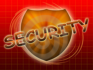 Inscription Security And Shield Stock Photos - Image: 19347093
