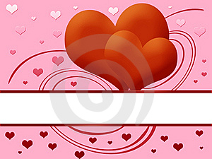 Two Red Hearts Royalty Free Stock Photography - Image: 19347227