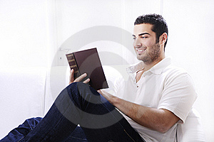 Reading Book In Home Interior Royalty Free Stock Photos - Image: 19347748