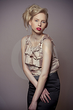 Fashion Blond Attractive Girl Stock Photography - Image: 19348542