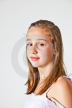 Portrait Of Cute Young Teenage Girl Royalty Free Stock Photos - Image: 19350958