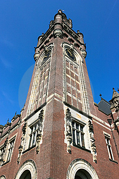 Clock Tower Of The Peace Palace Royalty Free Stock Images - Image: 19354549