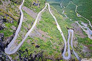 Picturesque Norway Mountain Landscape. Trollstigen Royalty Free Stock Photo - Image: 19355415