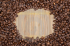 Frame Coffee Beans Stock Photo - Image: 19356500