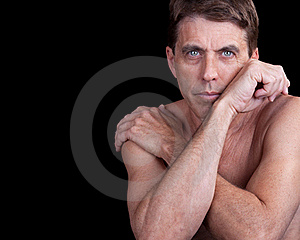 Male With Crossed Arms Stock Image - Image: 19359171