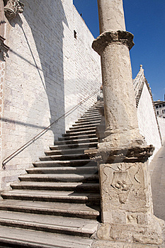 Particular Of A Column And Stair Stock Image - Image: 19359691