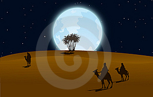 Desert At Night Royalty Free Stock Photos - Image: 19360028