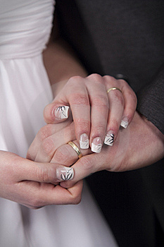 Bride And Groom - Hands Stock Images - Image: 19361074