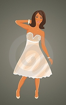 Pretty Girl In White Dress Stock Photos - Image: 19366753