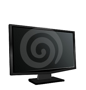 Illustration The Switched Off Monitor TFT Royalty Free Stock Images - Image: 19366779