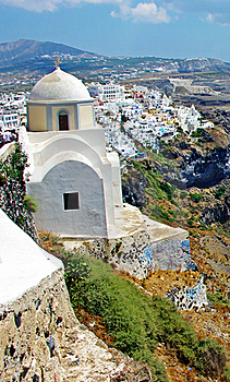 Île De Santorini, Ville De Fira Photos stock - Image: 19368973