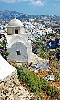 Santorini Insel, Fira Stadt Stockfotos - Bild: 19368973