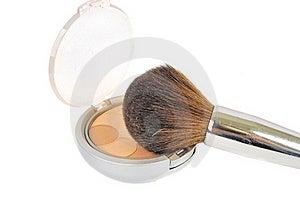 Brush And Powder Royalty Free Stock Photos - Image: 19371458