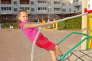 Girl Keeps For A Rope Stock Images - Image: 19378744
