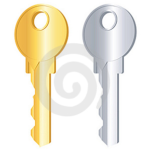 Gold And Silver Keys Stock Photos - Image: 19380213