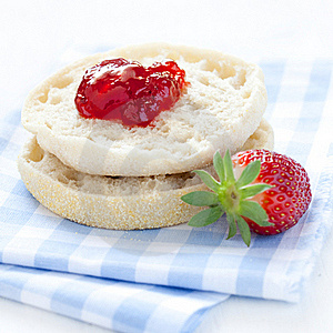 English Muffin With Jam Royalty Free Stock Images - Image: 19380219