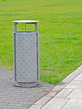 Litter Bin Royalty Free Stock Image - Image: 19382086