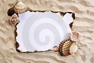Burned Paper On Sand Stock Photos - Image: 19386323