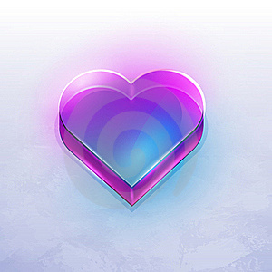 Transparent Icon Heart Of Glass Royalty Free Stock Photos - Image: 19387688
