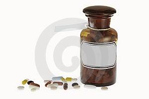 Medicine Bottle Royalty Free Stock Photo - Image: 19390755