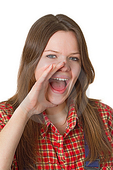 Screaming Young Woman Stock Photography - Image: 19391012