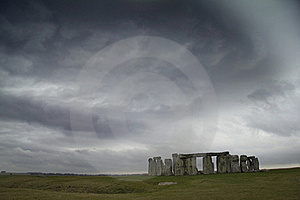 Stonehenge Under Moody Sky Royalty Free Stock Image - Image: 19391636